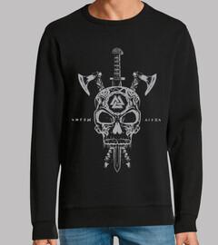 crâne et viking bras gris