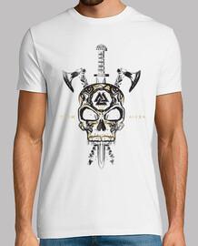 crâne viking et armes
