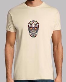 Crâne à motifs mexicains