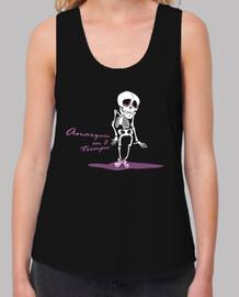 crâne anarchie t-shirt femme