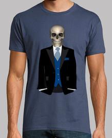 crâne avec costume