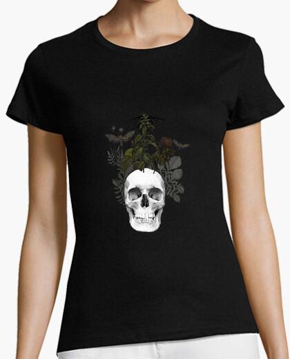 Tee-shirt crâne avec des fleurs et des animaux