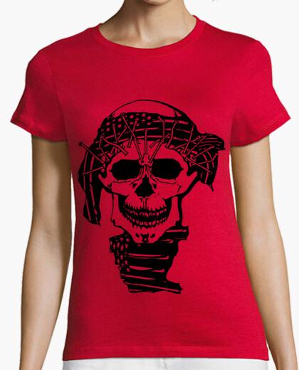 Tee-shirt crâne bandana b and ana silhouette noir
