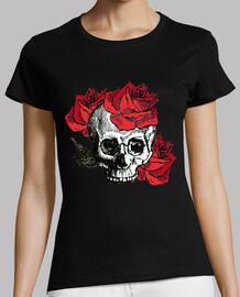 crâne cooltee et roses. disponible uniquement en latostadora