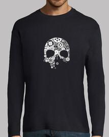 crâne d39engrenages sur blanc