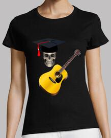 crâne d39étudiant avec guitare