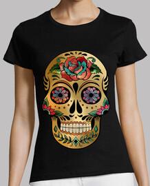 crâne de bonbons floral. chemise grille-pain