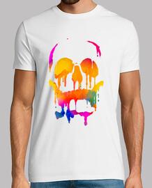 crâne de couleur fondue