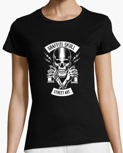 Tee-shirt crâne de graffiti