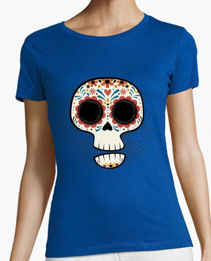 Tee-shirt crâne drôle meji can a - calavera mexi