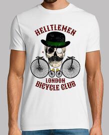 crâne et vélo couleur vintage
