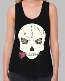 crâne fleuri