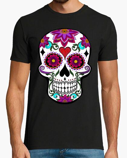 Tee-shirt crâne floral