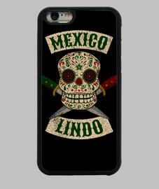 crâne mexicain avec des couteaux mignon mexique