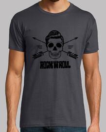 Crâne Rock and Roll noir