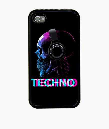 Coque iPhone crâne techno