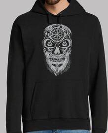 crâne vikings gris