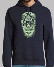 crâne vikings vert