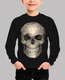 cráneo - camisetas, de manga corta, color azul marino