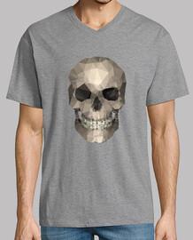 cráneo - hombre, manga corta, cuello