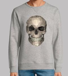 cráneo - hombre, sudadera, vigore gris