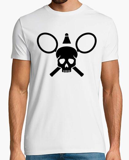 Camiseta cráneo de bádminton