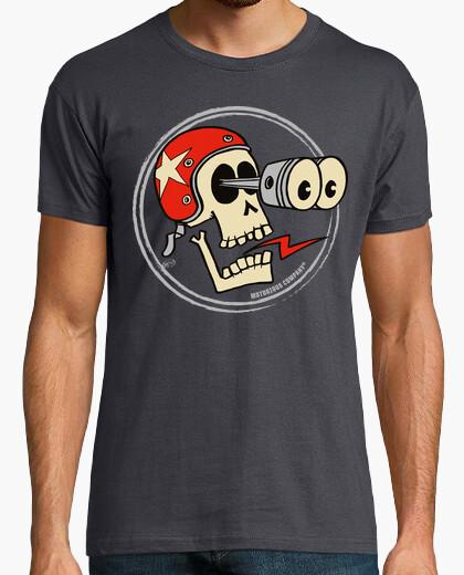Camiseta cráneo de pistón