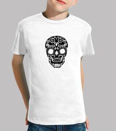 cráneo del azúcar blanco y negro