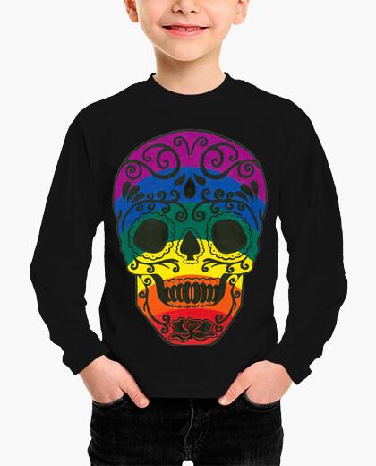 Ropa infantil cráneo del azúcar del arco iris