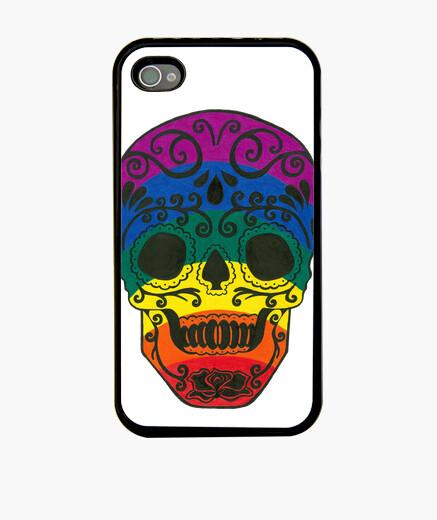 Funda iPhone cráneo del azúcar del arco iris