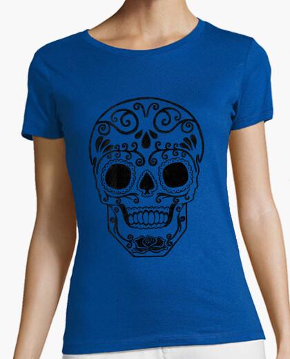 Camiseta cráneo del azúcar transparente