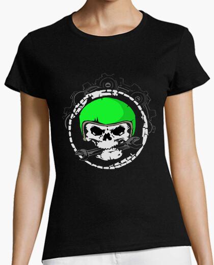 Camiseta cráneo mech