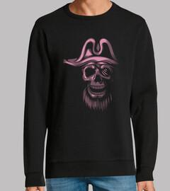 cráneo piratas rosa