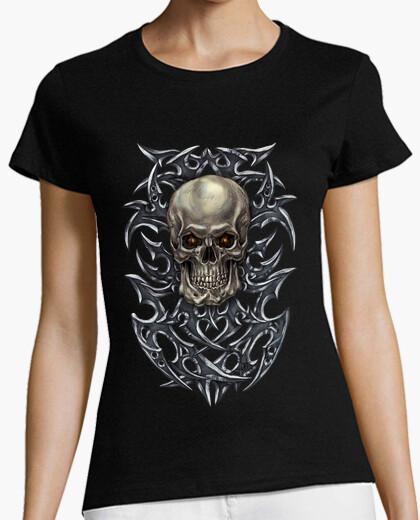 Camiseta cráneo tribal