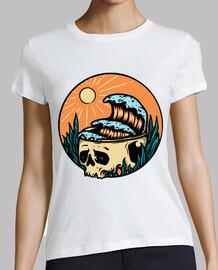 cráneo y ola