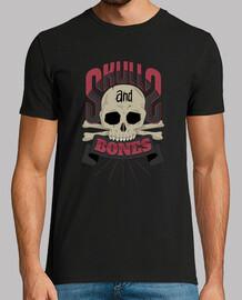 cráneos y huesos humanos camiseta