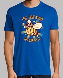 credi in te stesso - camicia da uomo bee pun