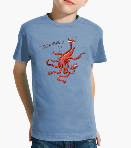 Abbigliamento bambino credo che kraken vola