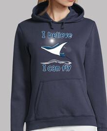 credo di can fly felpa m