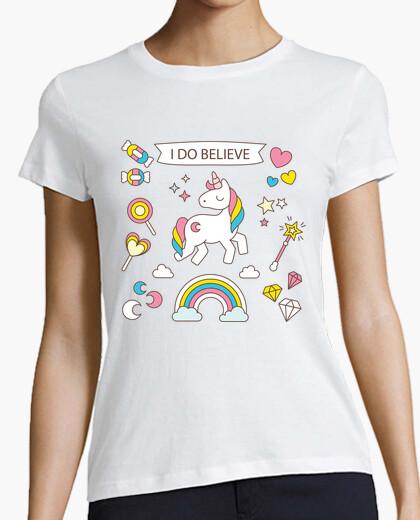 T-shirt credo negli unicorni