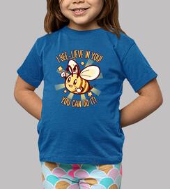 cree en ti mismo - camisa de niños de puntería de abeja