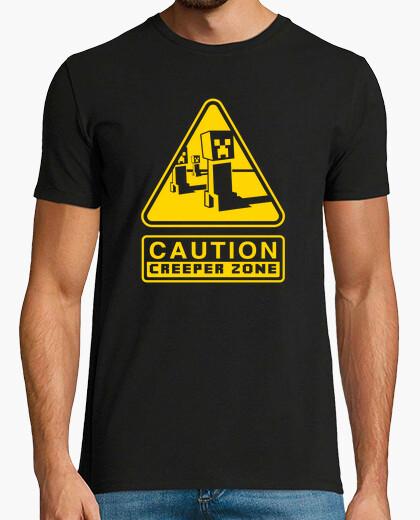 Creeper caution zone (black) t-shirt