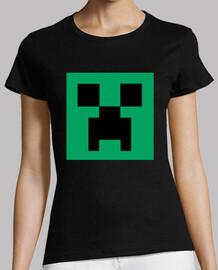 Creeper Face - Camiseta Chica Negra