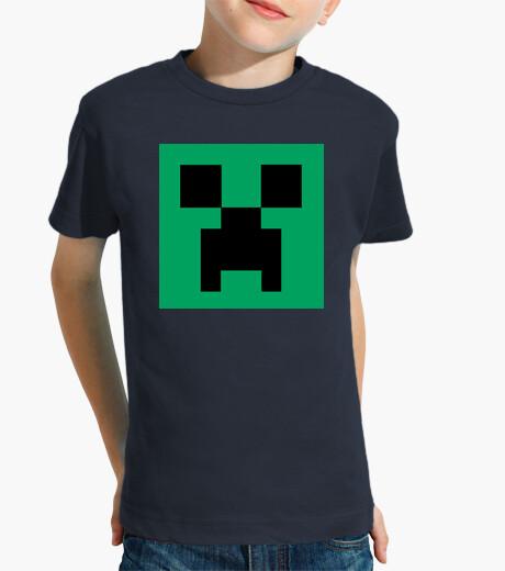 Ropa infantil Creeper Face - Camiseta Infantil Azul