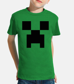 Creeper Minecraft 8 Bits (Camiseta Niño)