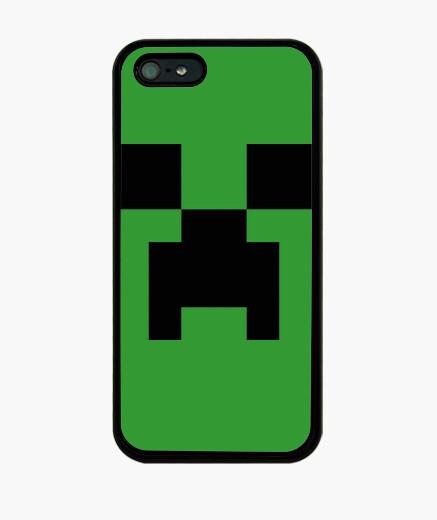 Funda iPhone Creeper Minecraft 8 Bits (iPhone)