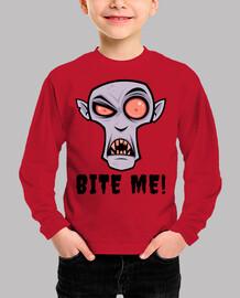 creepy vampire cartoon with bite me tex