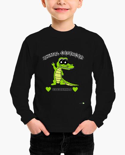 Crocodile long manga t shirt shirt- animal...