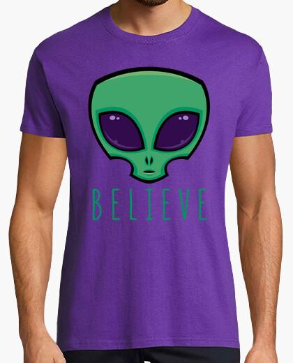 Tee-shirt croire la tête d39alien
