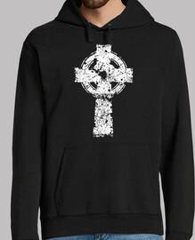 croix celtique-rayures grunge-irlandais